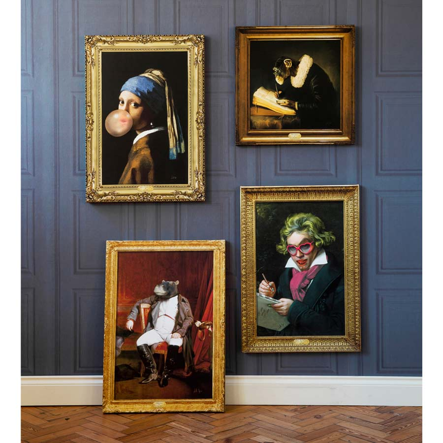 portrait of chimpspeare dutch masters painting of shakespeare as a monkey french bedroom company. Black Bedroom Furniture Sets. Home Design Ideas