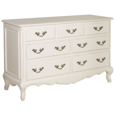 Provencal 7-Drawer White Chest by The French Bedroom Company