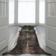 Superlong Stretched Cowhide Rug