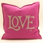 Pink Love Cushion (Image 1)
