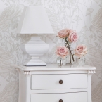 Squat Shabby Chic Lamp (Image 2) by The French Bedroom Company