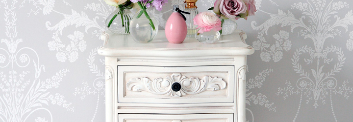 French Style Bedside Cabinets