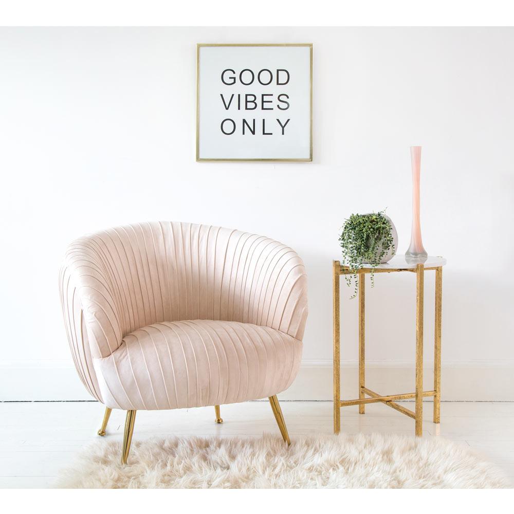 image-Barbarella Bustle Blush Chair - Bedroom Chair