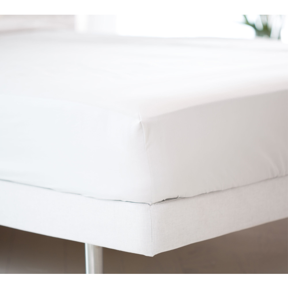 image-Boutique 400 Luxury Percale White Fitted Sheet King