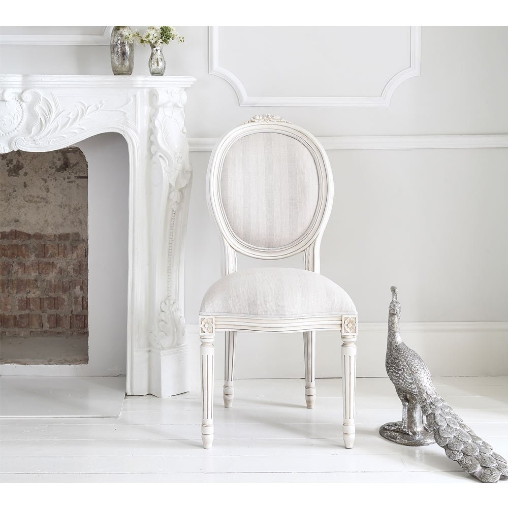 image-Provencal Stripe French Chair - Bedroom Chair