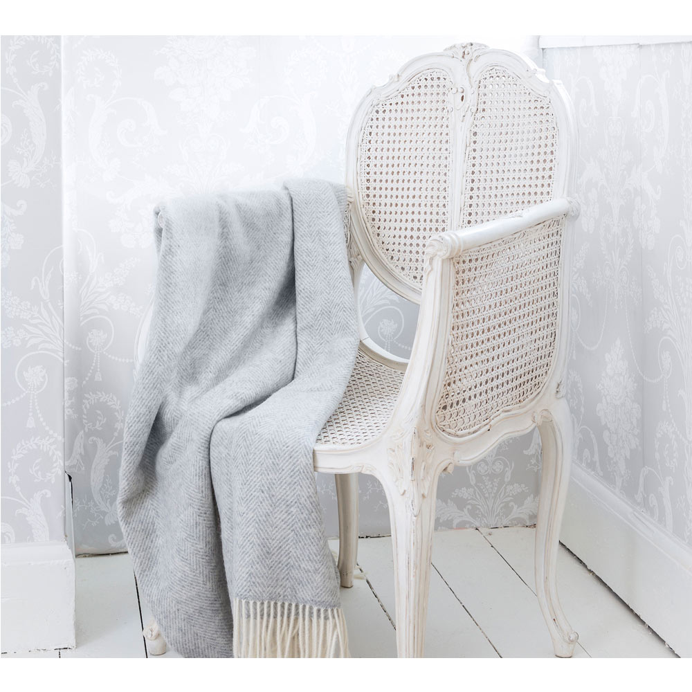 image-Provencal Rattan White Chair - Bedroom Chair