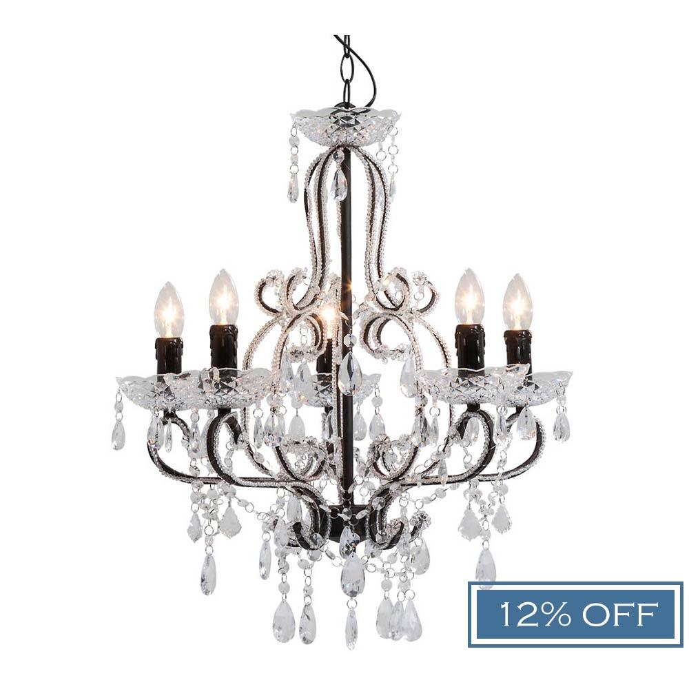 Audrey 5 arm chandelier luxury chandelier aloadofball Image collections