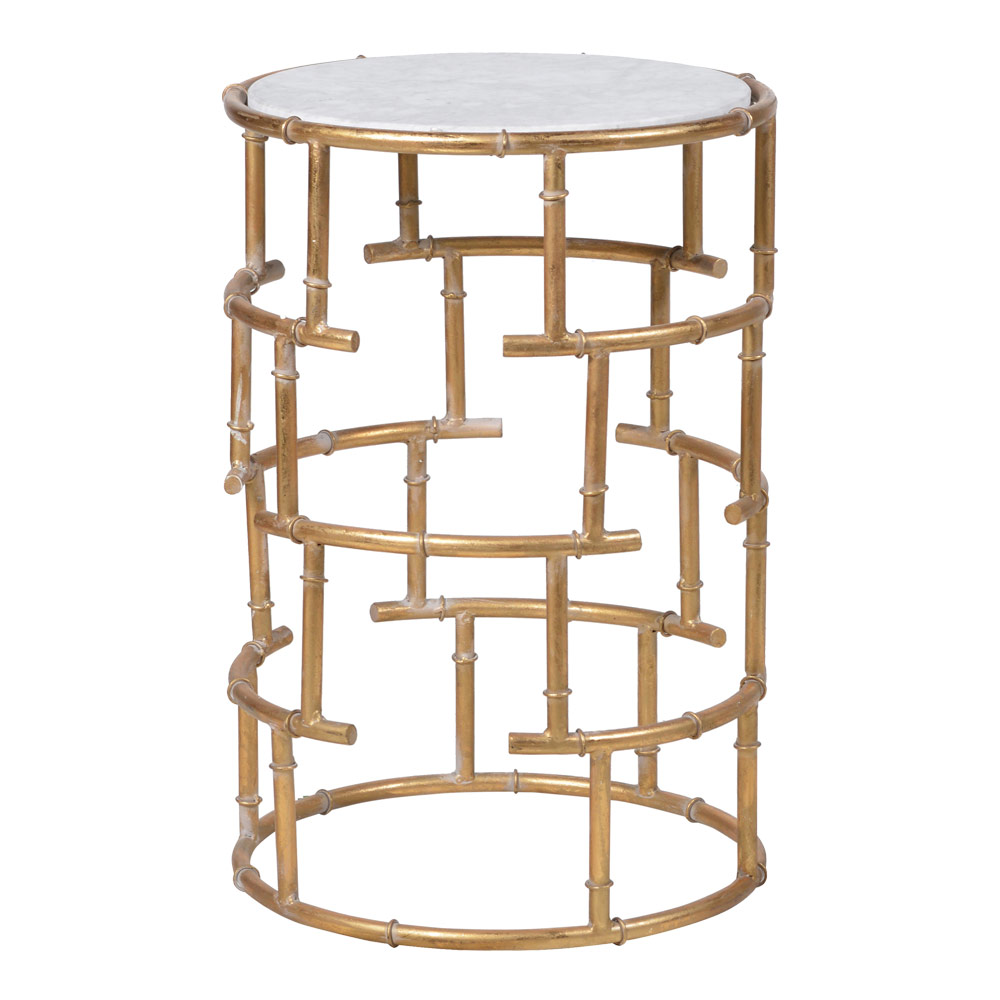 Bamboo Gold Side Table