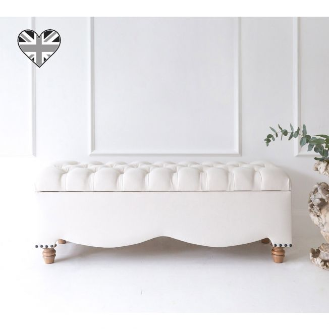 A Million Dreams Ivory Ottoman