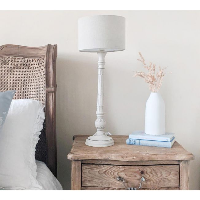 A Pair of Slim Freda Distressed Table Lamps