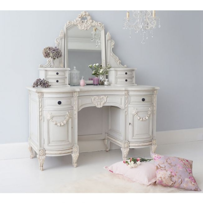 Bonaparte Painted French Dressing Table (Not Quite Perfect)