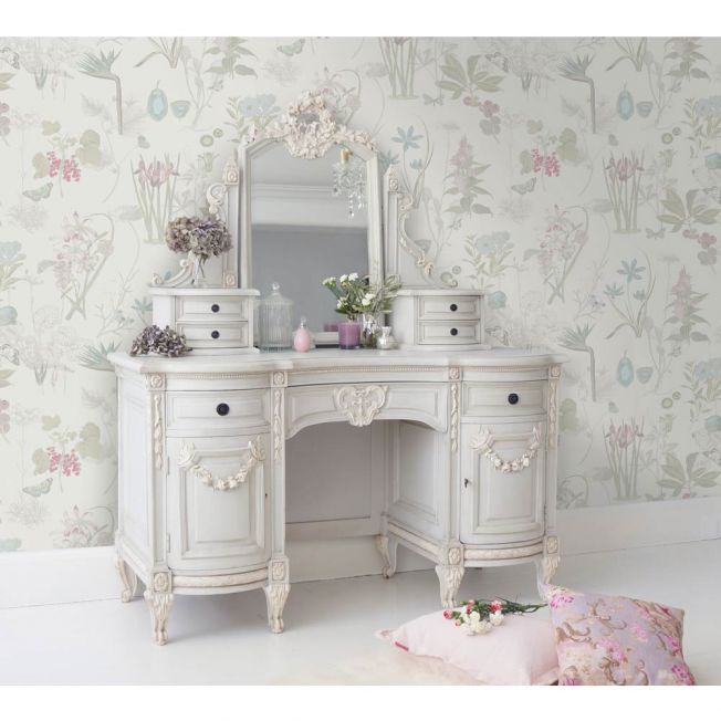 Hand-Carved French Dressing Table