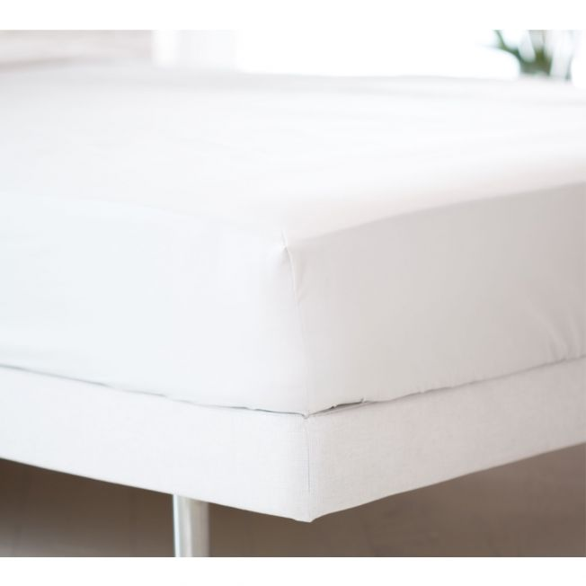Boutique 400 Luxury Percale White Fitted Sheet