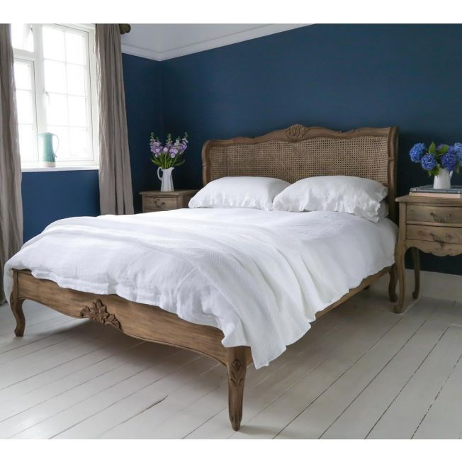French Hand Carved Bed