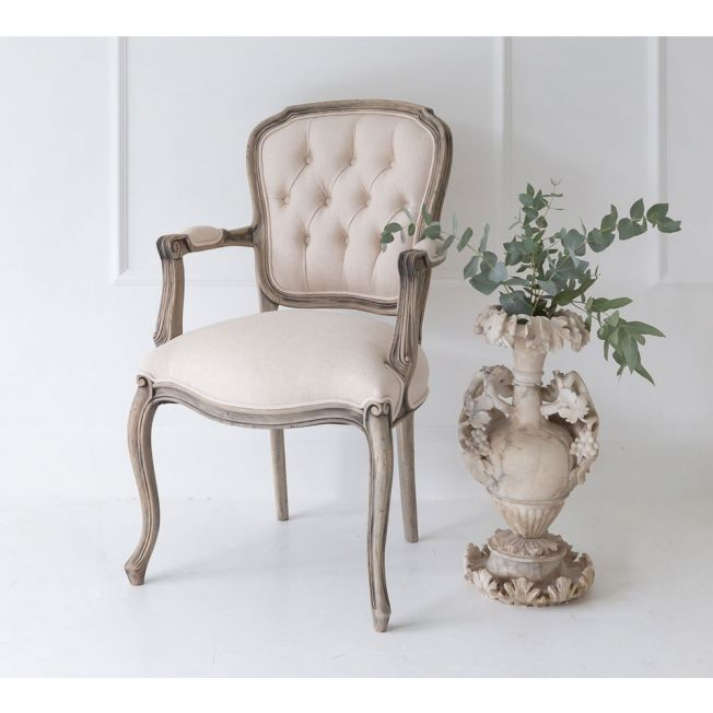 Chateauneuf Upholstered Rustic French Armchair