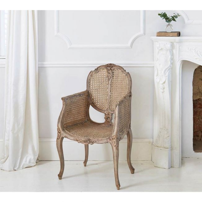 Chateauneuf Rustic Rattan Chair
