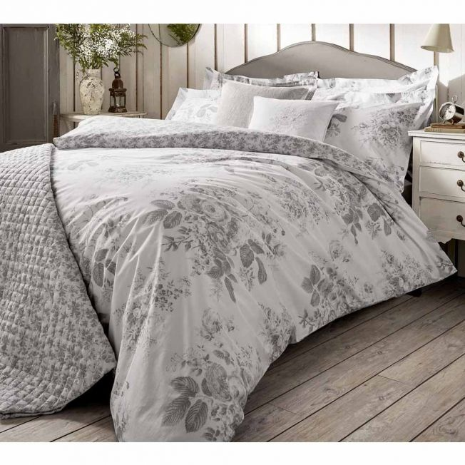 Darcy Rose Grey Bed Linen