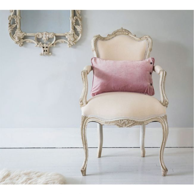 Distressed Antique White Chair