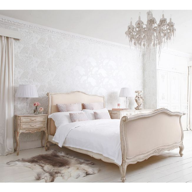 Delphine French Upholstered Bed