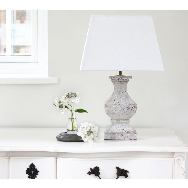 Distressed French Bedside Lamp