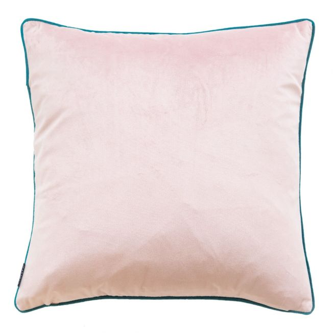 Essence Velvet Cushion in Blush and Teal