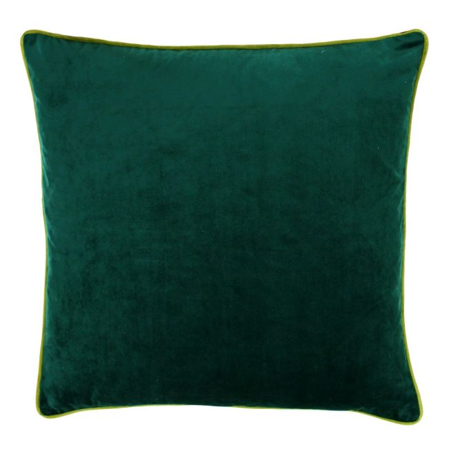 Essence Velvet Cushion in Emerald & Moss