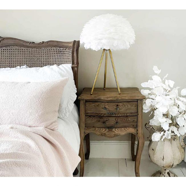 Feathered Cloud White Table Lamp