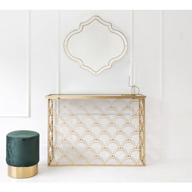 Luxury Gold Console Table