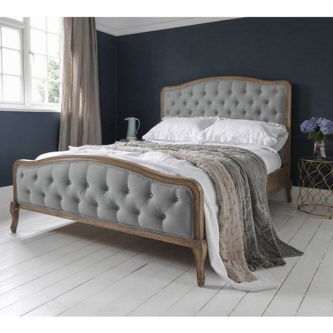 Luxury Blue French Bed