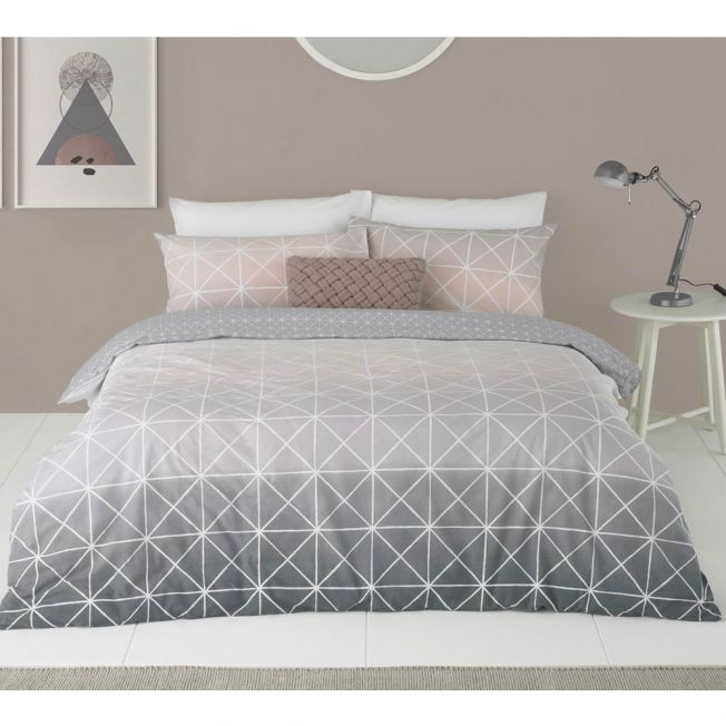 Grey, Pink and White Bedding
