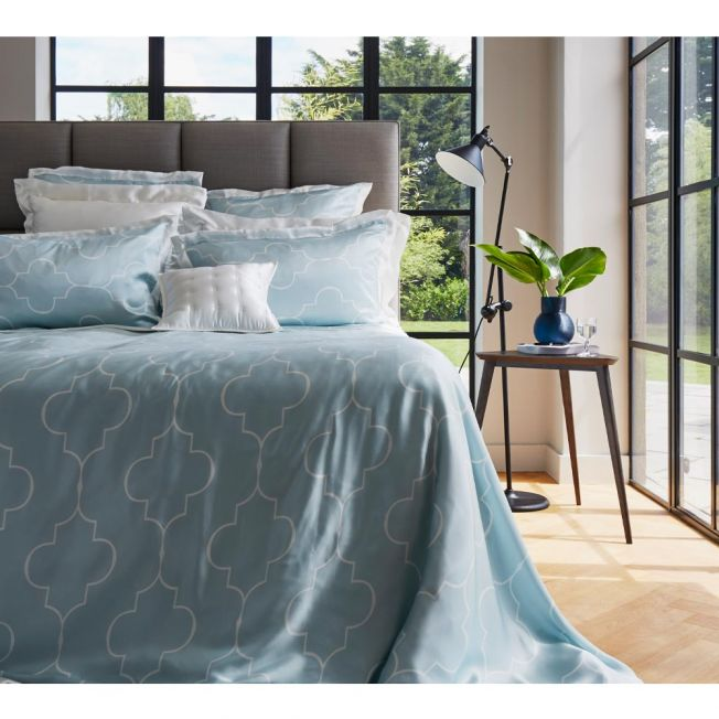 Mulberry Silk Bed Linen by Gingerlily in Casablanca Blue
