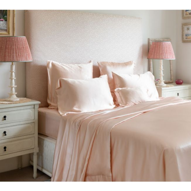 Mulberry Silk Bed Linen by Gingerlily in Rose Pink
