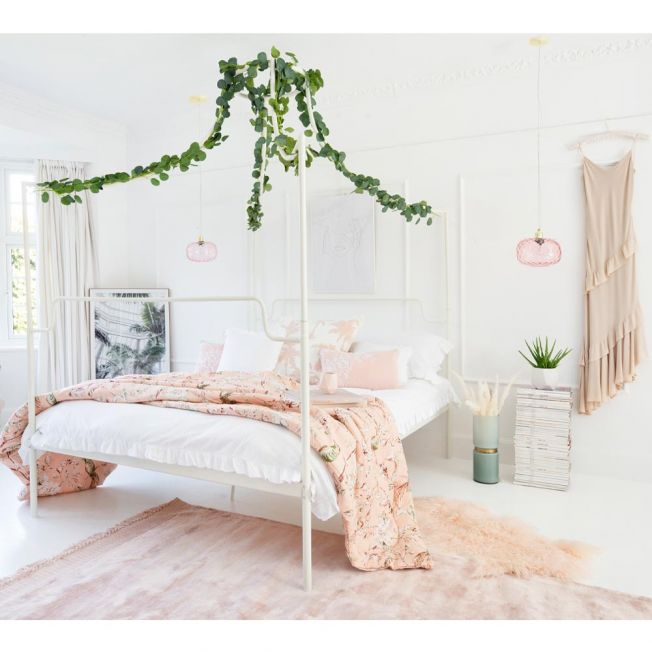 Harmony White 4-Poster Bed
