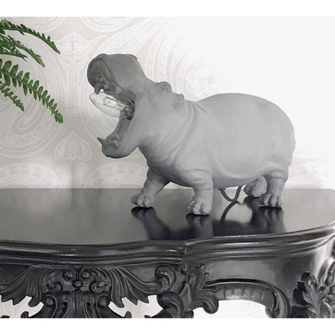 Harold Hippo Grey Table Lamp
