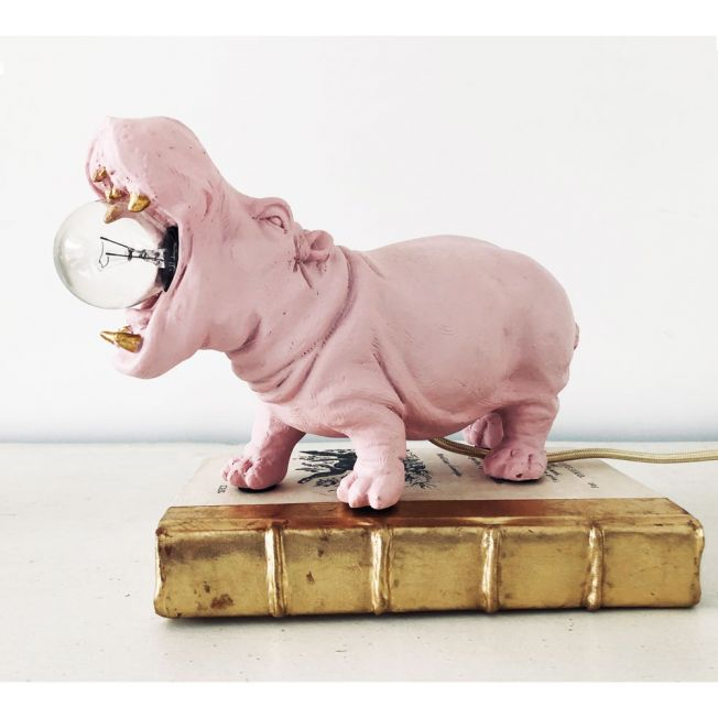 Henry Hippo Little Pink Table Lamp