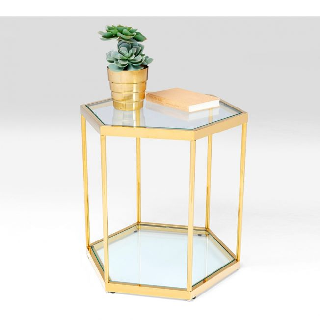 Hexagon Hive Gold Side Table