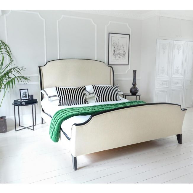 House Of Valois Black and Ivory Bed