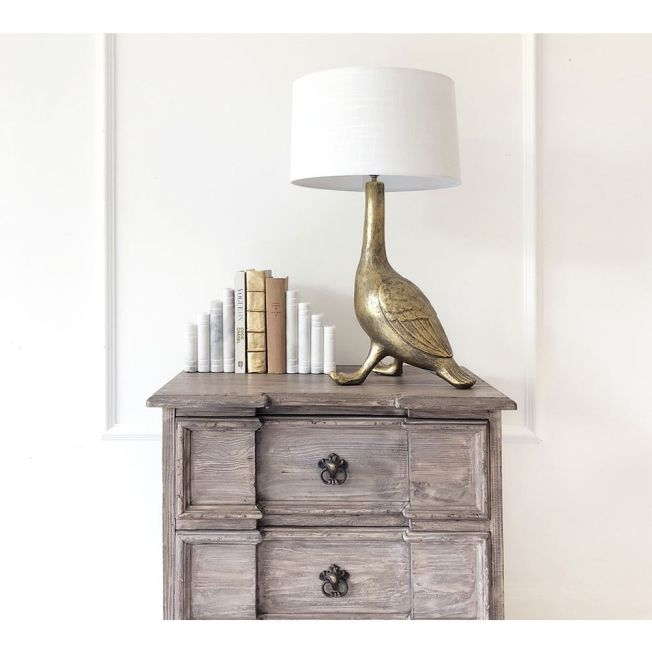 Duck Shaped Gold Table Lamp