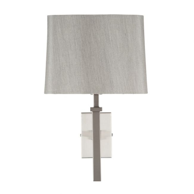 Dmitri Brushed Silver Wall Light