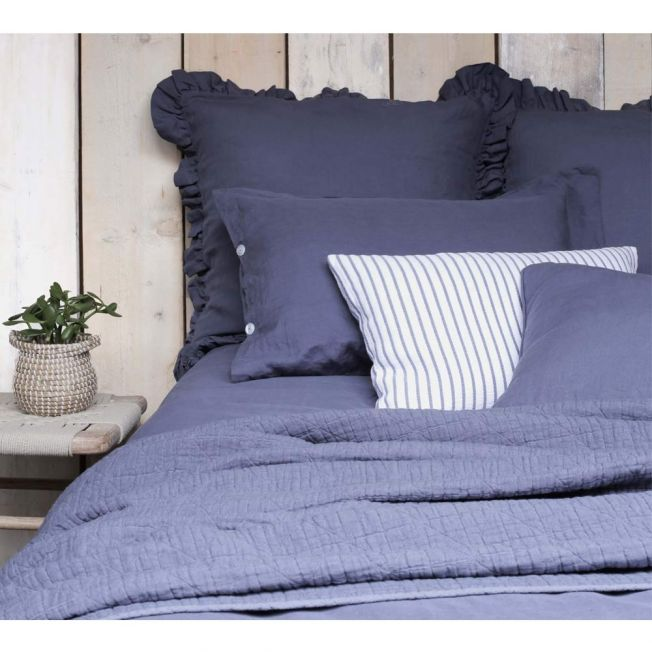 Lisbon Bed Linen in French Blue