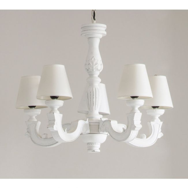 White Rustic French Chandelier