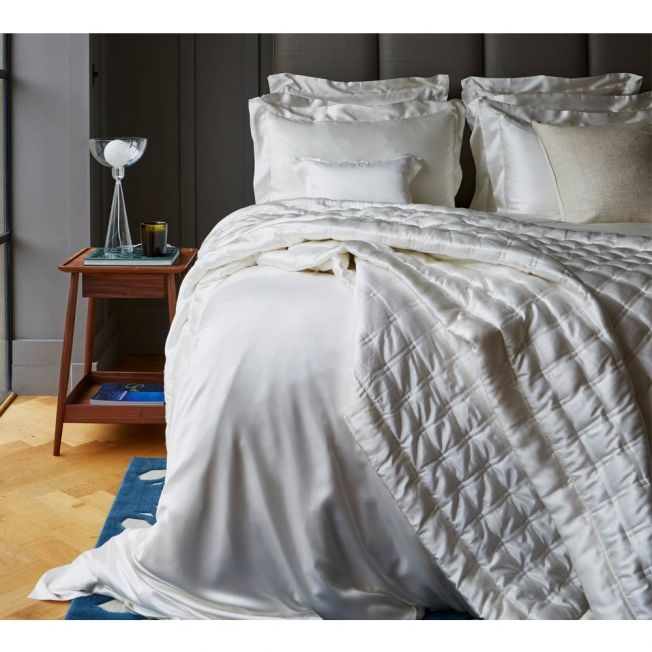 Mulberry Silk Bed Linen by Gingerlily in Ivory