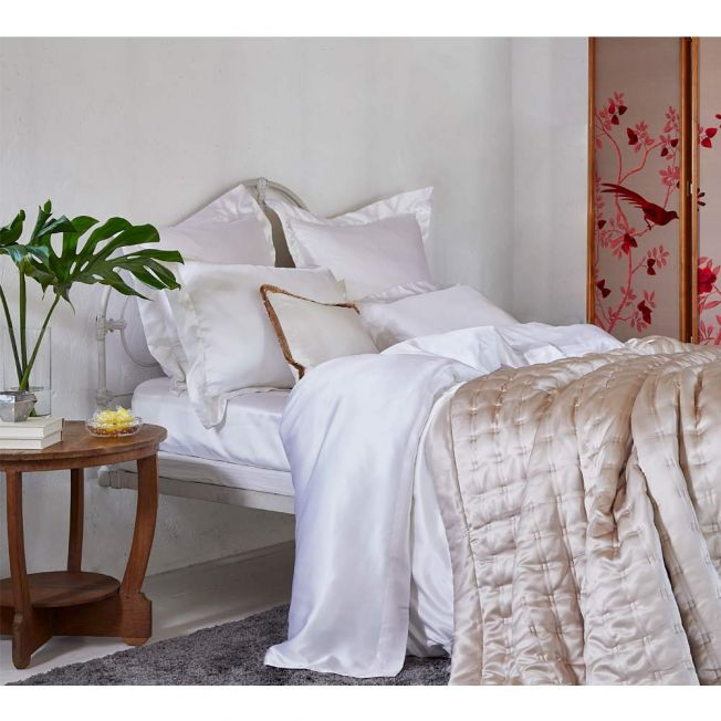 Mulberry Silk Bed Linen by Gingerlily in White