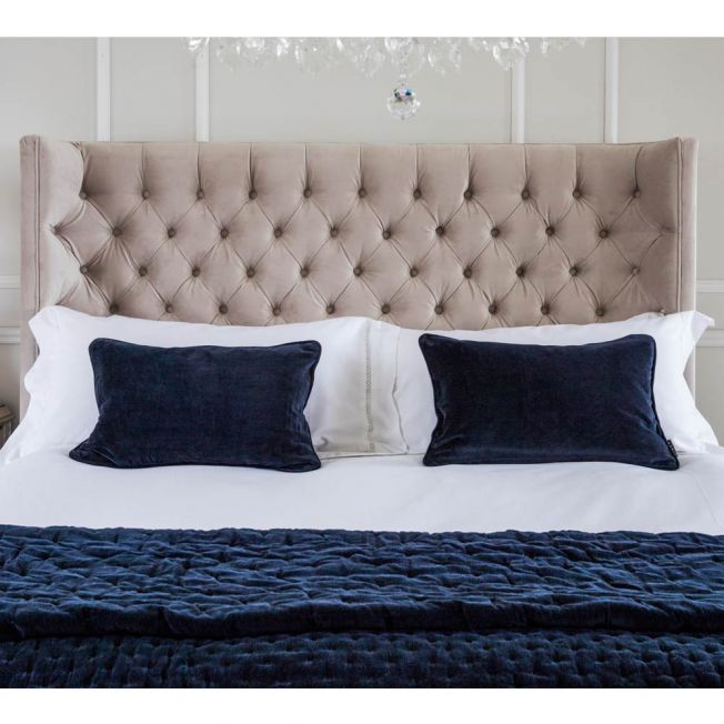 Luxury Blue Velvet Cushion