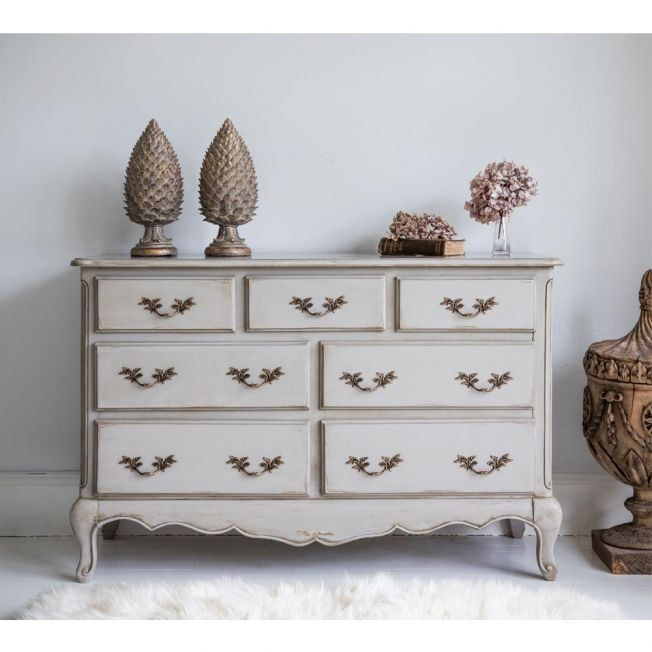 Normandy 7-Drawer Shabby Chic Chest of Drawers