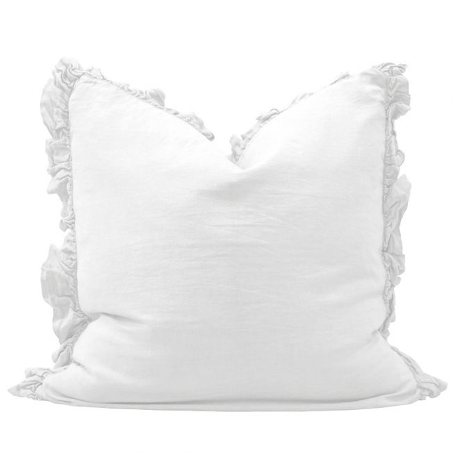 White Linen Cushion