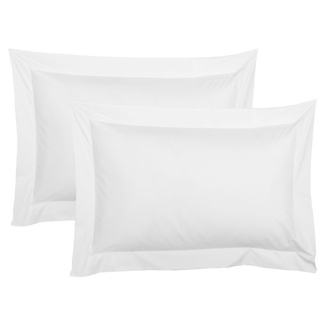Pair of Luxury White Oxford Pillowcases
