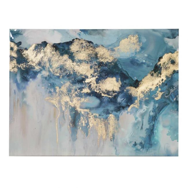 Pearlescent Waves Abstract Wall Art