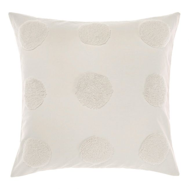 Pom Poms on Parade Cushion in Ivory