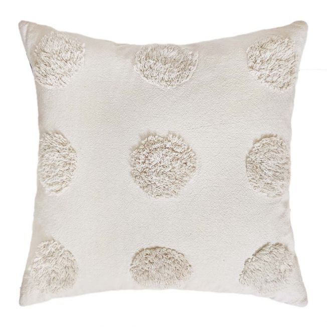 Pom Poms on Parade Cushion in Taupe